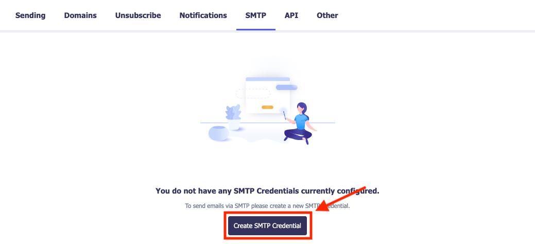 create smtp